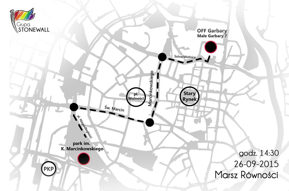 Trasa Marszu Równości w Poznaniu