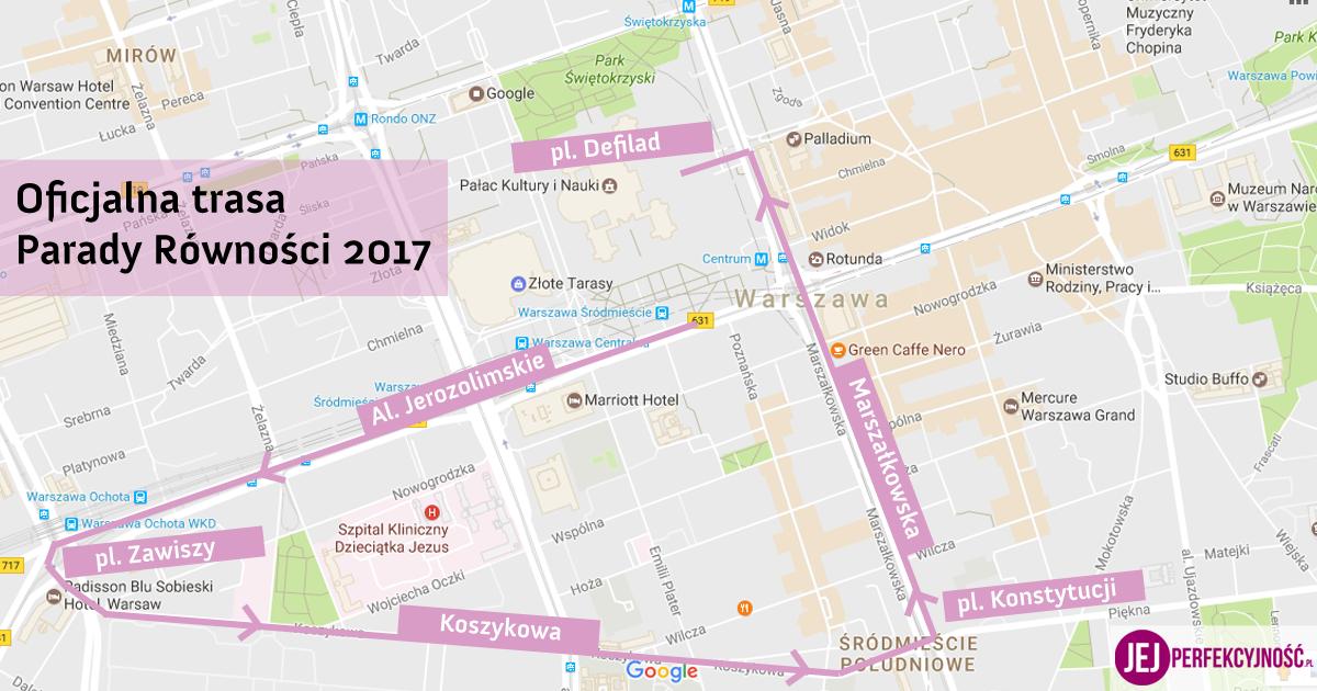 Trasa Parady Równości 2017